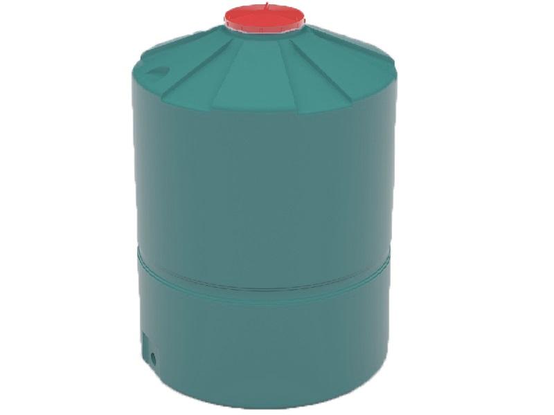 Пластиковая емкость зеленого цвета