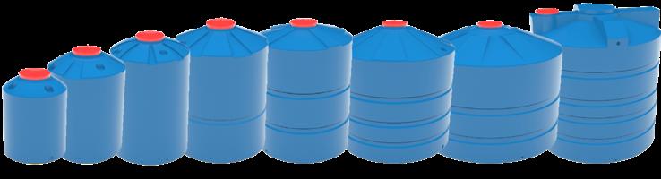 Цилиндрические емкости для воды и топлива