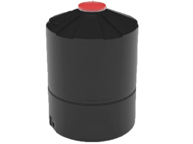 Пластиковая емкость черного цвета